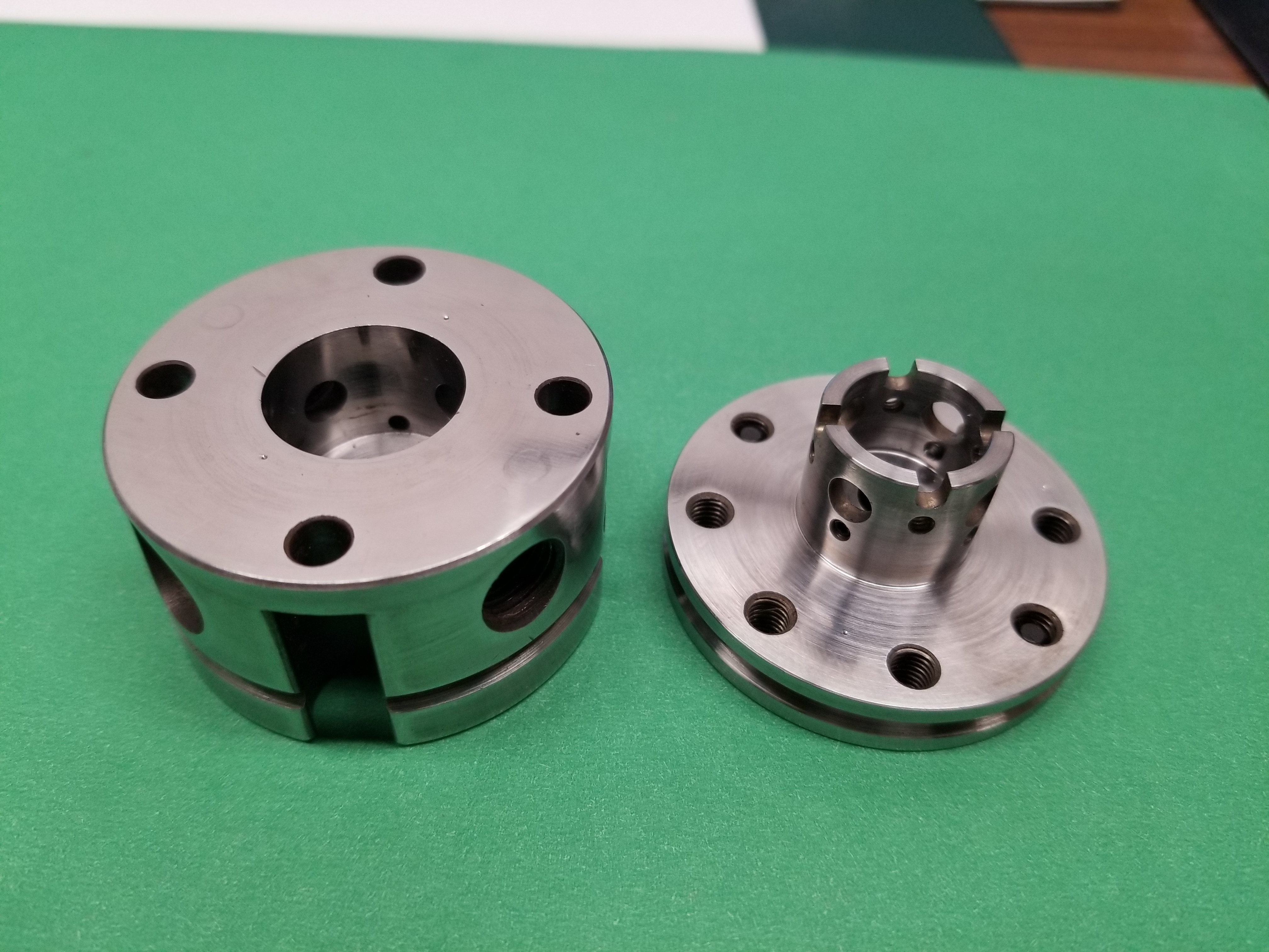 These diamond anvil cells were made in the EPL machine shop