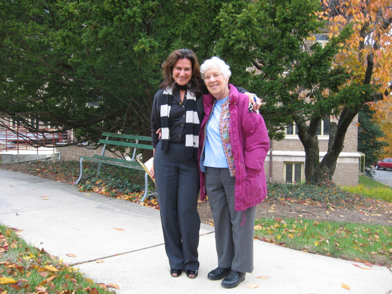 Janice Dunlap and Vera Rubin on CArnegie Science Broad Branch Road Campus in 2007