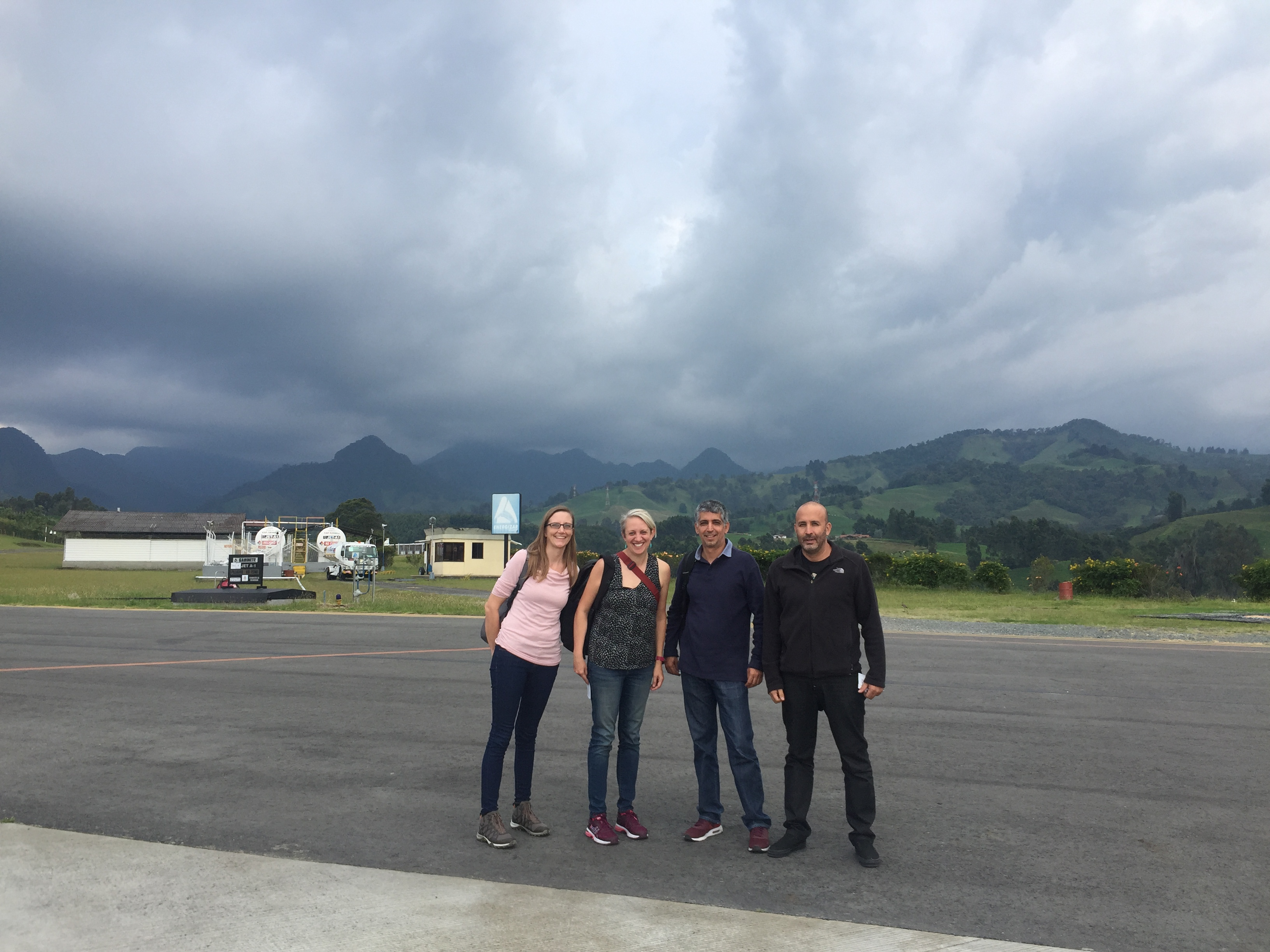 Lara, Christy, Gaspar, and Agustin arrive in Colombia to prepare for the MUSICA