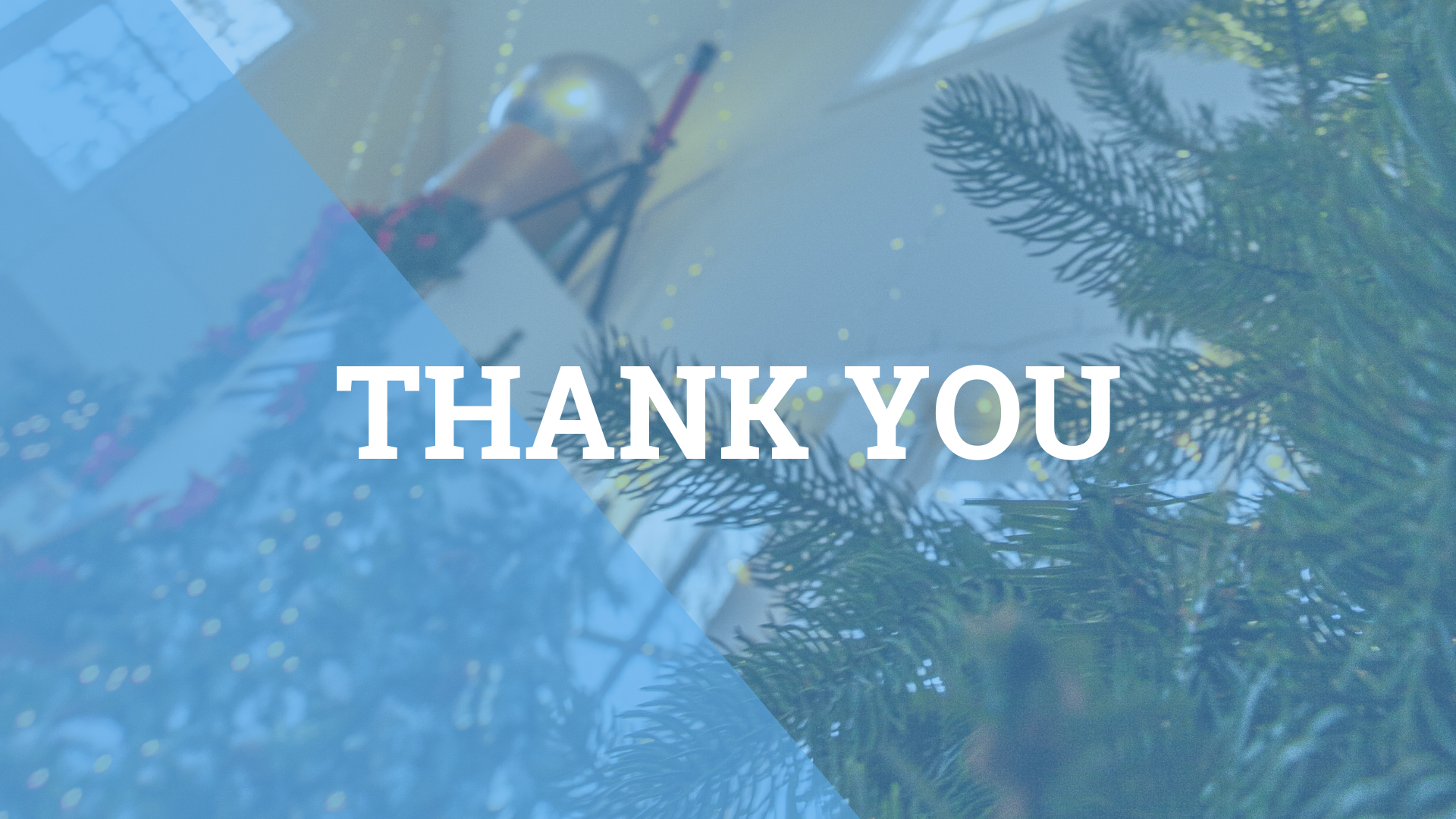 Thank You! Holiday Background