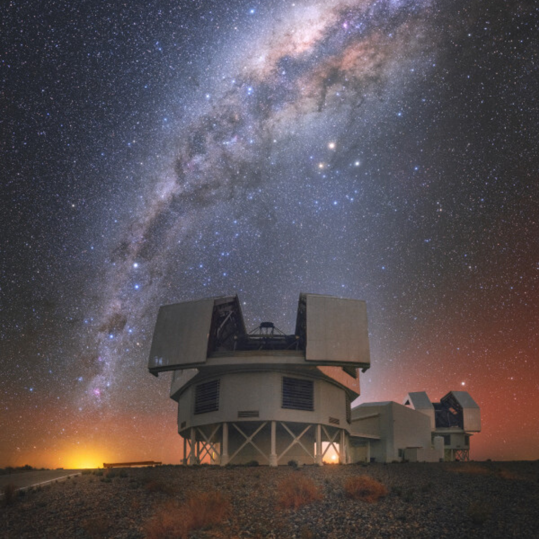 Baade Magellan Telescope and the Milky Way circa 2010s