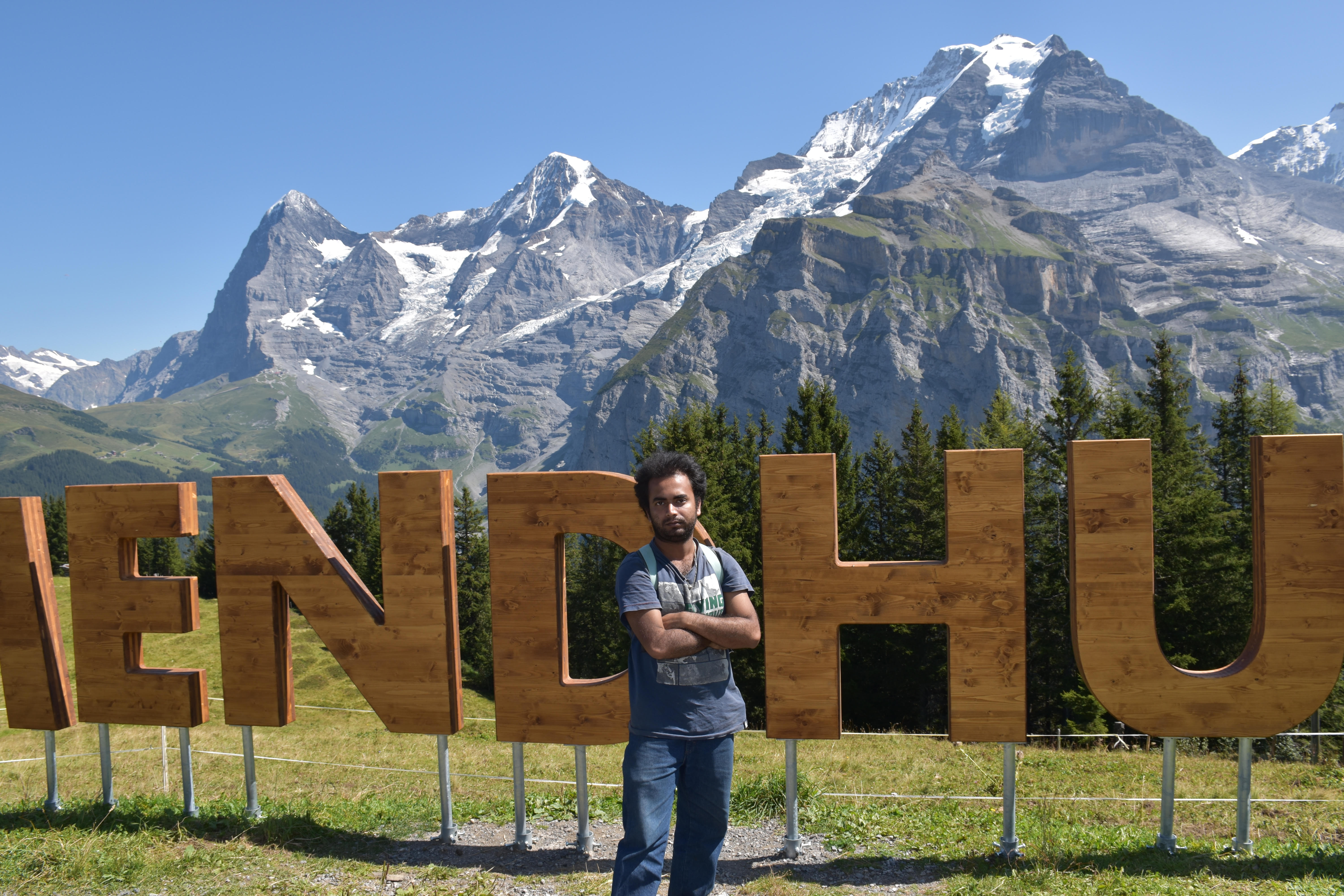 Raj Dutta on a visit to the the Swiss Alps in 2019 during Goldschmidt Barcelona