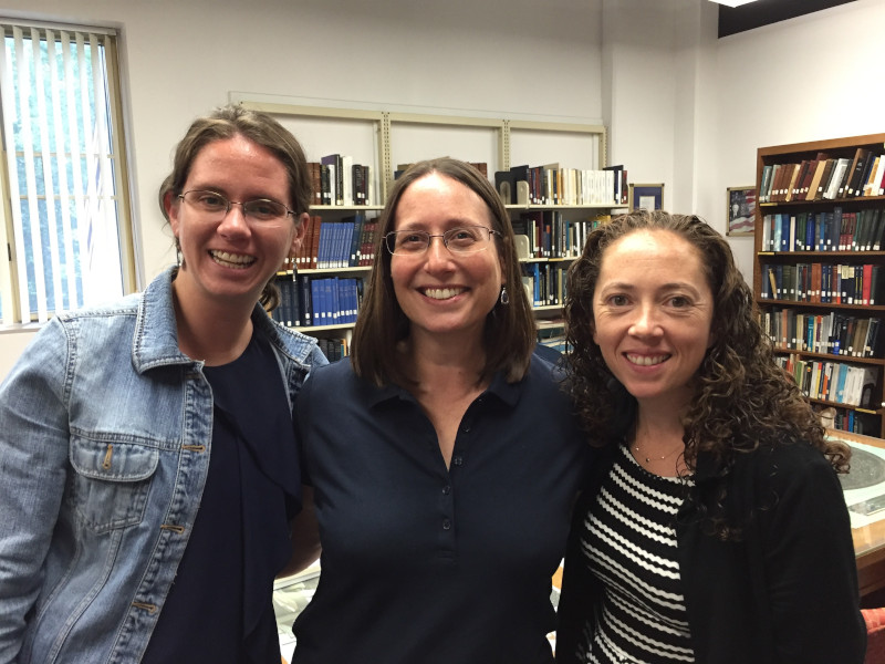 Postdocs Jackie Faherty and Johanna Teske pose with Staff Astronomer Alycia Weinberger