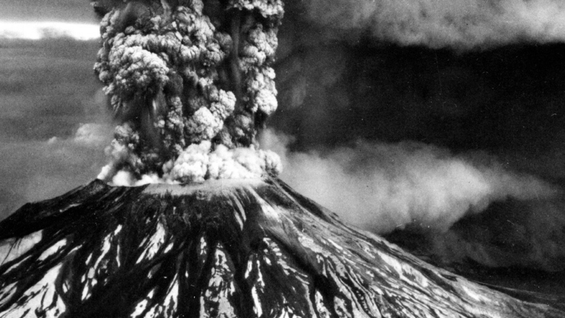 Mount St Helens Erupting in 1980. Photo credit: USGS