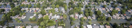 Flooding from Hurricane Harvey in a residential area of Southwest Texas, August 31, 2017. (Credit: U.S. Department of Defense)