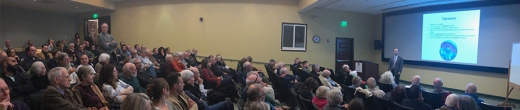 The Geodynamo: Large Crowd Attends Peter's Driscoll's Neighborhood Lecture