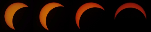 The view of the Solar Eclipse from Carnegie's Broad Branch Road campus in Washington DC. Credit: Abhisek Basu